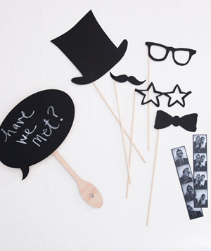 Black and white props