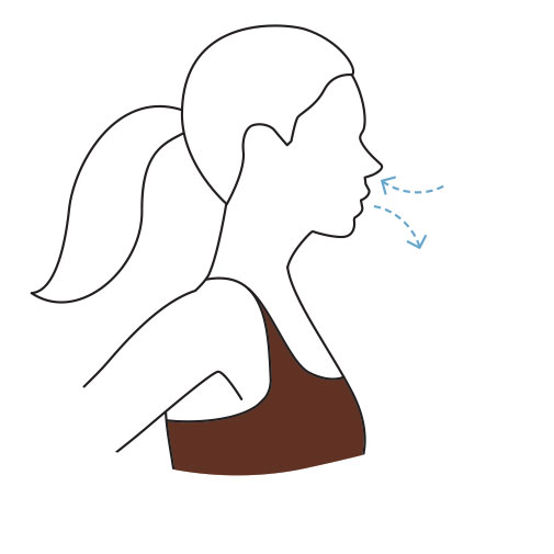 Illustration of a woman breathing
