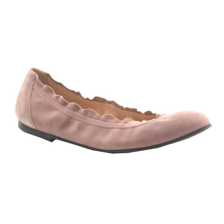 French Sole Dusty Pink Suede