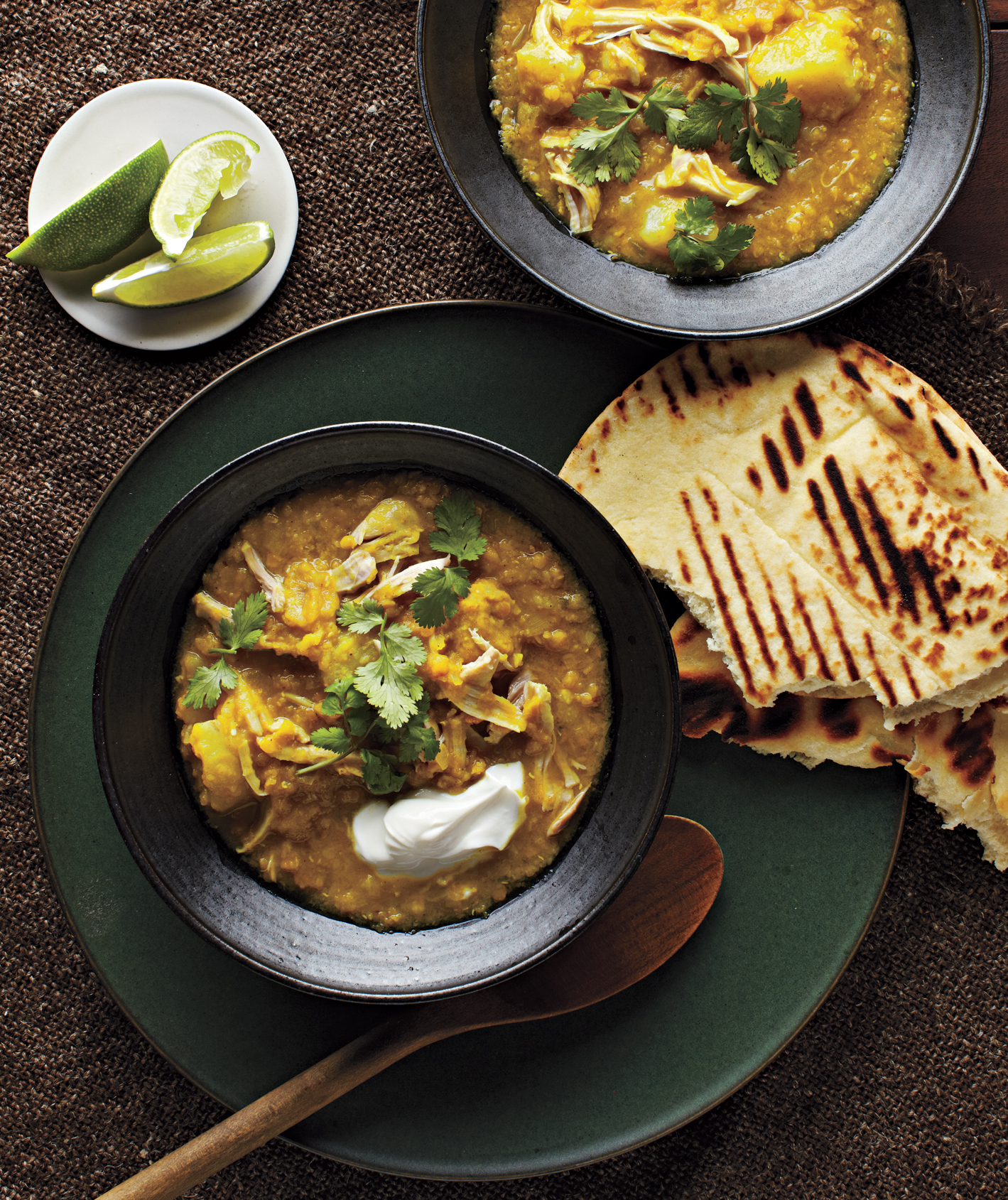 Slow-Cooker Curried Lentils With Chicken and Potatoes