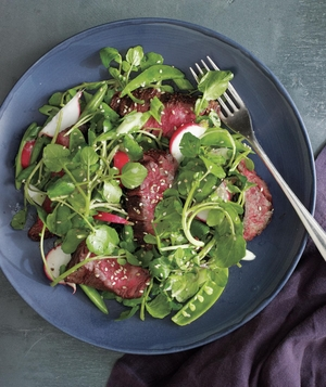 Steak and Watercress Salad With Spicy Miso Dressing