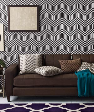 Zigzag and geometric patterned room