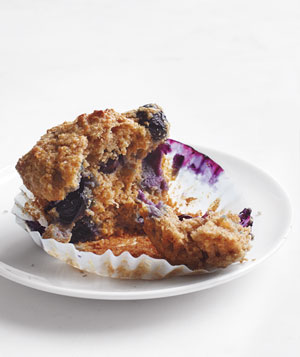 Whole-Grain Blueberry Muffins