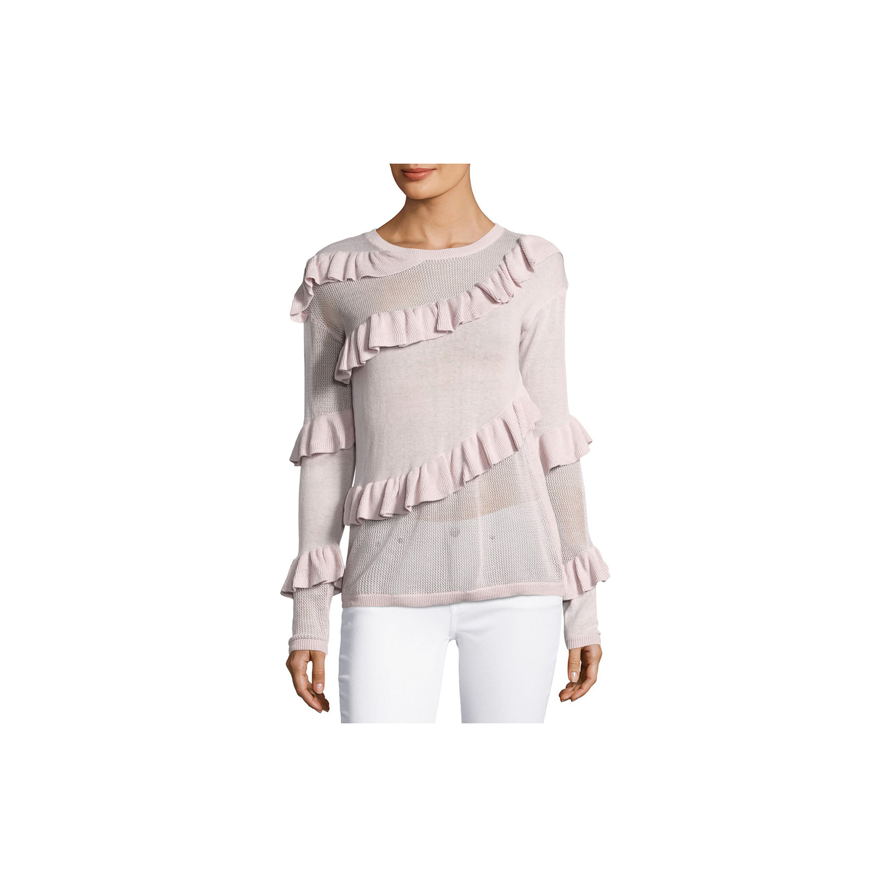 Marled by Reunited Clothing Ruffled Crewneck Sweater