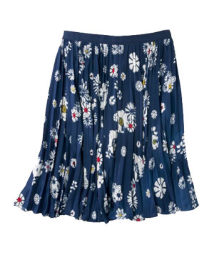 Jason Wu for Target Pleated Skirt in Navy Floral