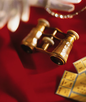 Opera glasses and tickets