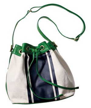J.Crew Canvas-and-Leather Bag