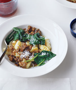 Gnocchi With Sausage and Spinach