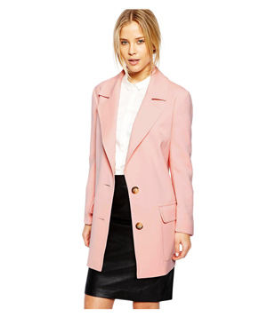 ASOS Longline Coat With Patch Pockets
