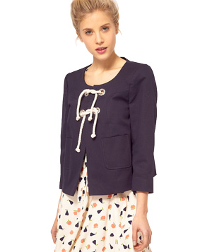 ASOS Nautical Jacket With Rope Knot Detail