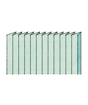 Illustration of a crystal pleat