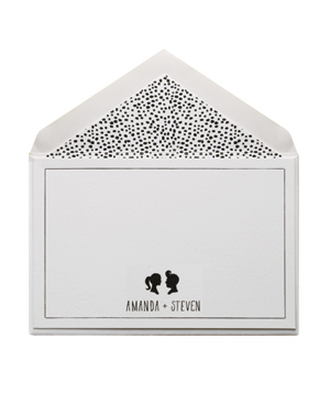 Personalized Couples Flat Cards