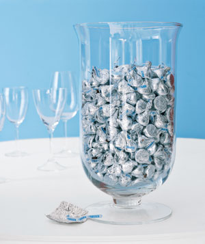 Hershey Kisses in a vase