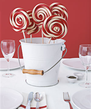 Lollipop bouquet as centerpiece