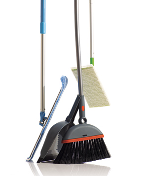 Mop, broom and a Swiffer Sweeper