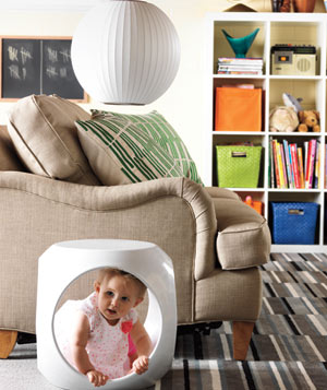 Kid friendly furniture and lamp