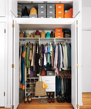 Larry Smith and Piper Kerman's closet after the makeover