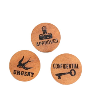 Wooden Office Clips
