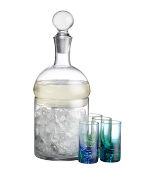Bar Schnapps Carafe and Ice Container