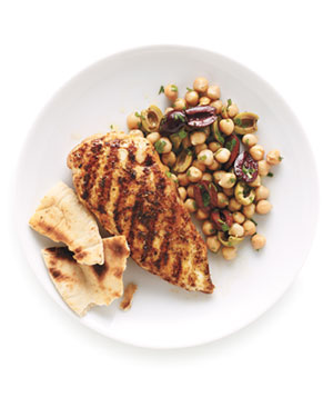 Grilled Spiced Chicken With Chickpeas