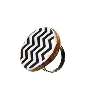 Starlight Woods Resin-and-Wood Ring
