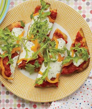 Salami and Pepper Pizzas
