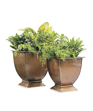 All-Weather Footed Outdoor Planters