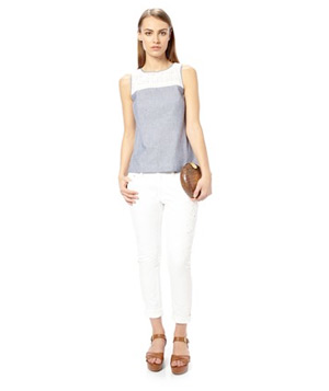 French Connection Lois Chambray Sleeveless Top
