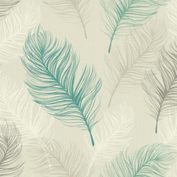 Tranquil feather wallpaper design