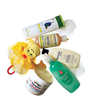 Child hair, skin, and bath products