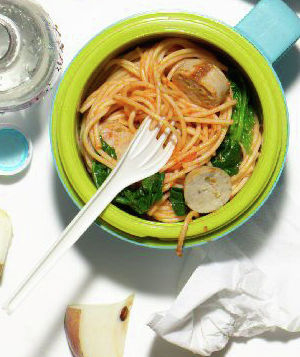 Spaghetti With Spinach and Sausage