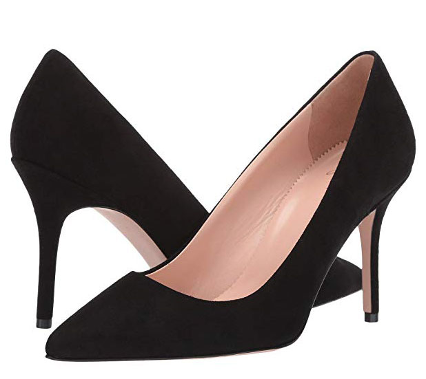 J. Crew black suede pumps