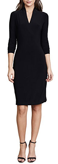 Norma Kamali long sleeve black dress