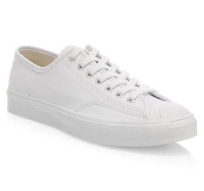 Converse white leather low-top sneakers