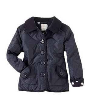 The Children's Place Girls' Uniform Quilted Coat