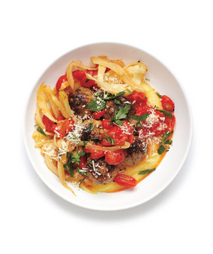 Meatballs With Fennel and Polenta
