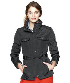 Gap Quilted Belted Jacket