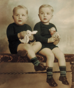 Richard B. Stolley and brother Jim as children