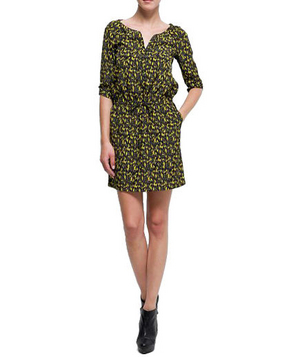 Mango Printed Straight-Cut Dress