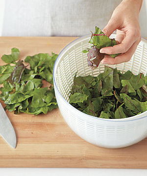How to Clean Greens, Step 2