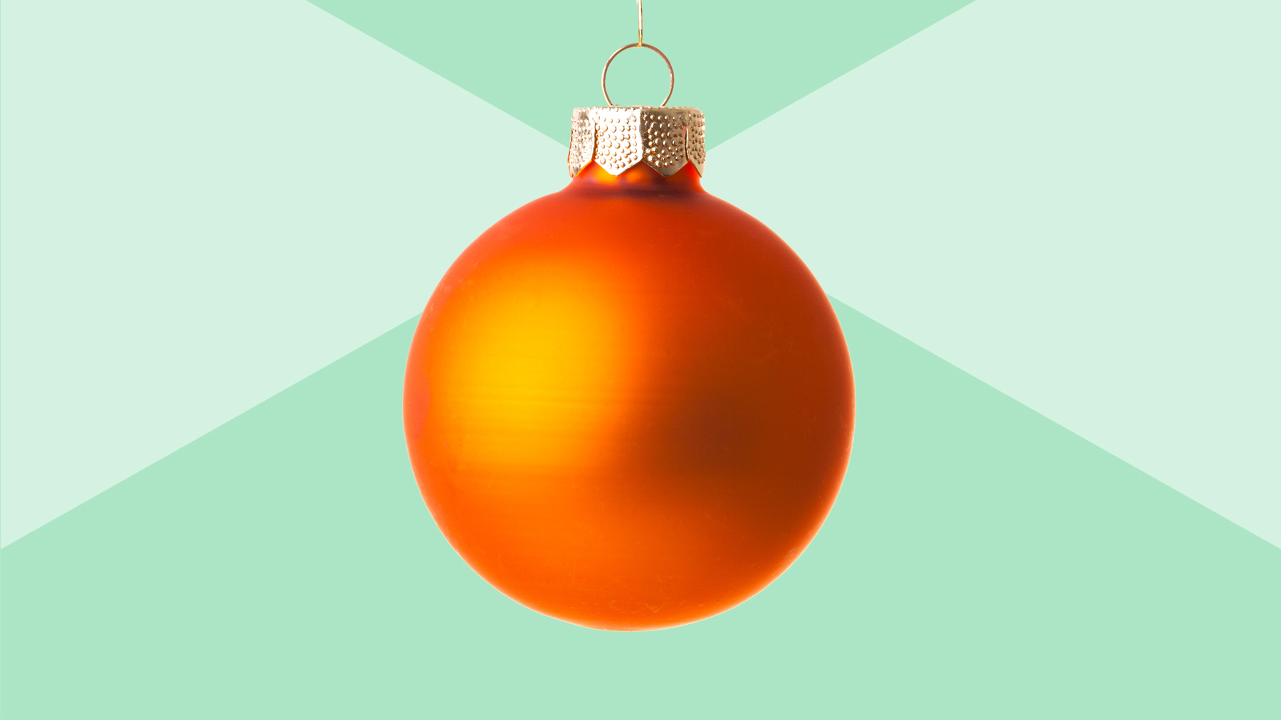 Christmas tree decorations and decorating ideas - orange ornament