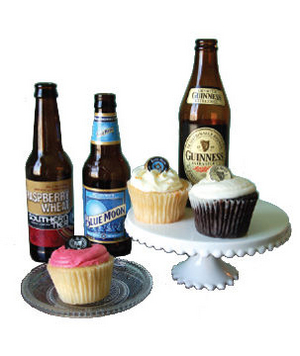 Cacao Sweets and Treats Beer Cupcake Assortment