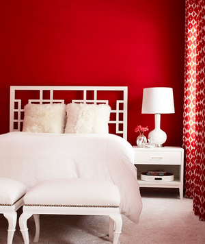 Bright red room