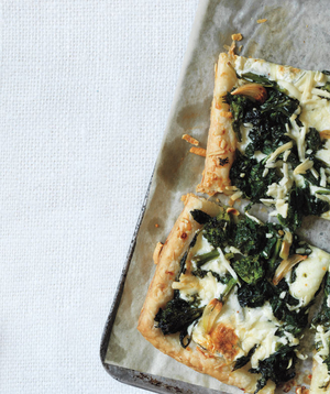 Broccoli Rabe and Pecorino Tart