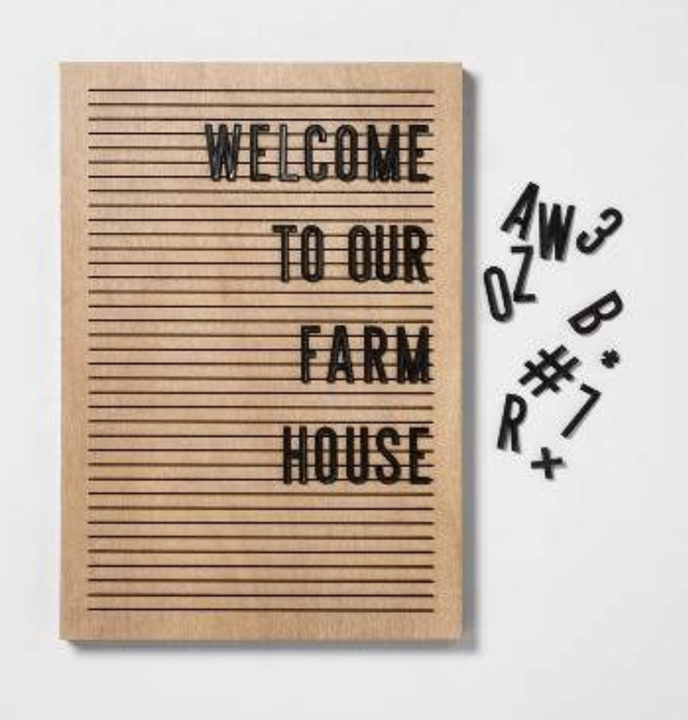 Modern Farmhouse Letter Board