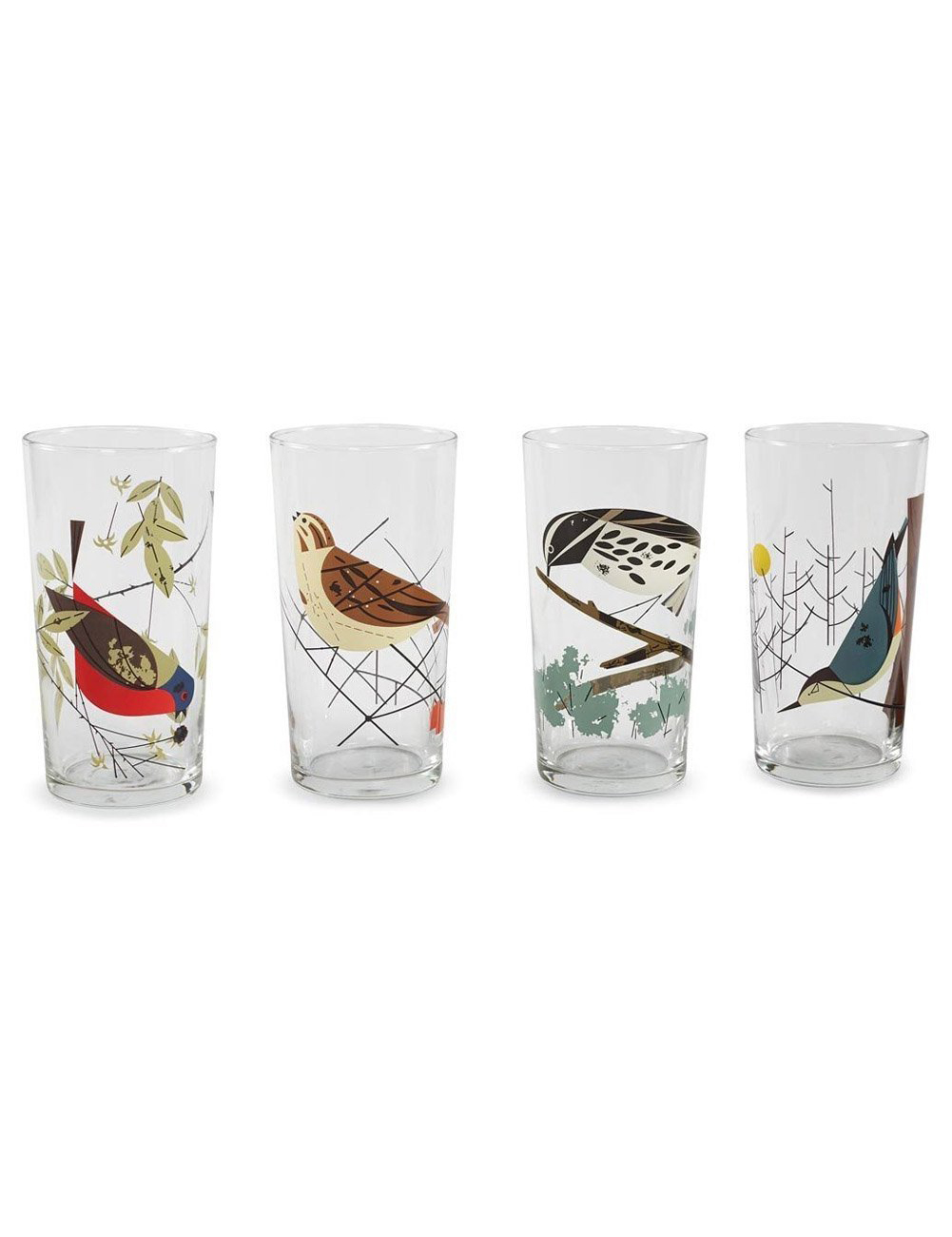 Charley Harper Original Birds Glasses