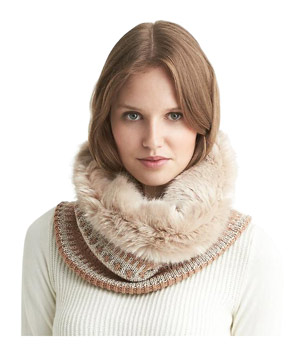 Banana Republic Fair Isle Faux-Fur Neckwarmer