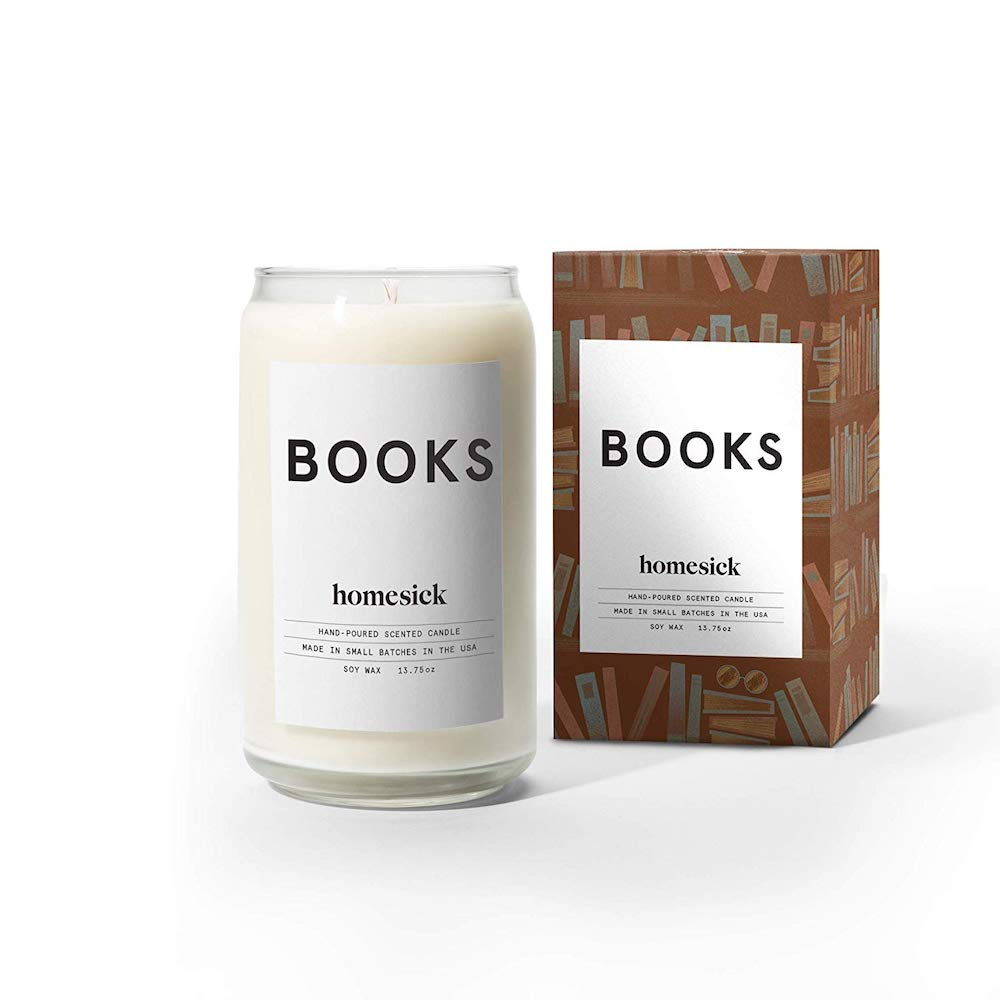 homesick candles library scent