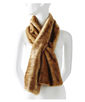 The Limited Faux-Fur Keyhole Scarf