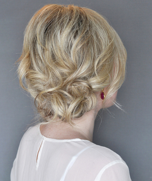 Side Updo With a Twist, Step 3